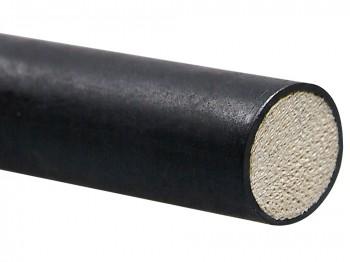 Geschälter Rohrstock, mit Latex überzogen