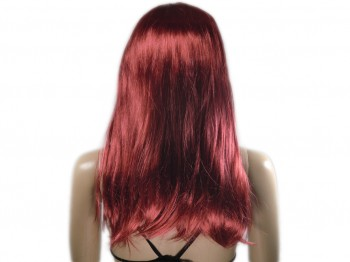 Perücke rot lang und glatt