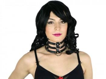 4fach Slave Halsband mit O-Ring