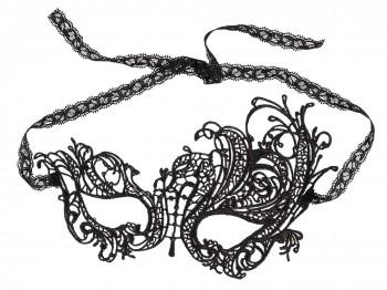 Cottelli Collection Maske Stickerei schwarz