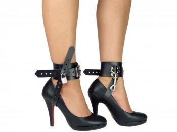 Bondage High Heels Fesseln abschließbar schwarz