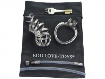 EDD Joy Jammer lang Edelstahl Peniskäfig mit Dilator 40mm
