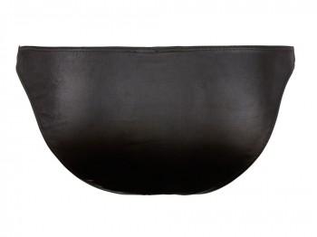 Slip aus schwarz glänzendem Wetlook Gr. M