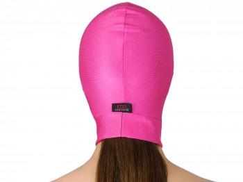 Dehnbare Kopfmaske ohne Öffnungen Pink