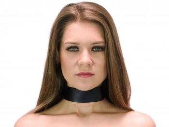40 mm breites Halsband clean schwarz