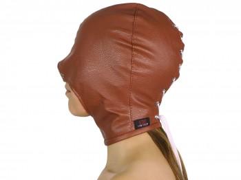 Blind Kiss Maske mit offenem Mund braun Gr. XS