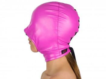Blind Kiss Maske mit offenem Mund pink
