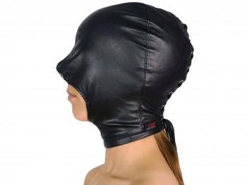 Blind Kiss Maske mit offenem Mund schwarz