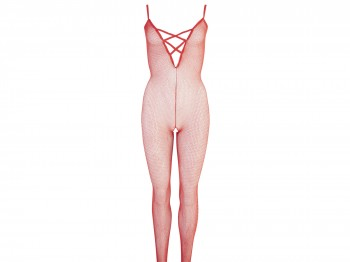 Mandy Mystery Catsuit rot ouvert Gr. S/M, M/L und L/XL