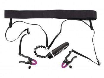 Bad Kitty String mit Klemmen und Vibrator