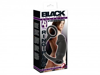 Black Velvets Vibrating Ring + Analplug
