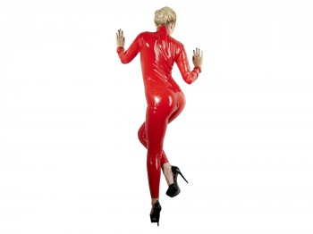 Latex Catsuit rot