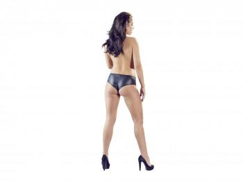 Schwarze Panty in Lederoptik Gr. S, M, L und XL