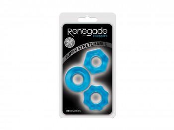Renegade blaue Penisringe 3tlg.