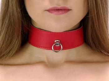 40 mm breites Halsband mit Ring der O Rot