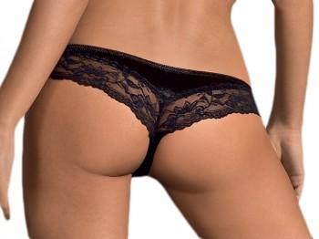 Schwarze Panties mit Spitzenbund Gr. S/M