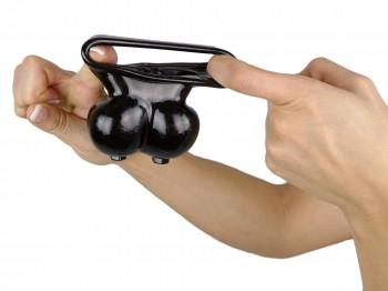 Ball Bag mit Cockring schwarz