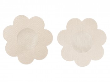Selbstklebende blütenförmige Textilsticker für die Brustwarzen