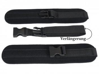 Soft-Bondage Klettfesseln mit Klick-Verschluss schwarz