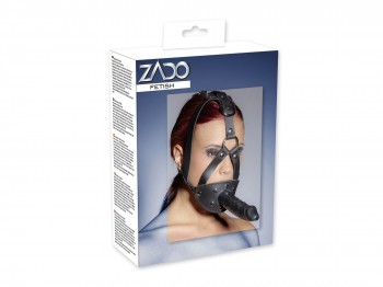 Zado Leder-Kopfgeschirr mit Dildo