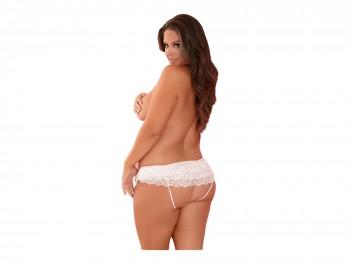 Forever sexy Crotchless Panty weiß Gr. XL/XXL