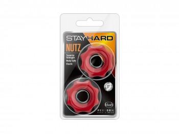 Stay Hard Nutz Rings rot 2er Set