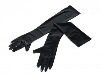 Lange Handschuhe im Wetlook