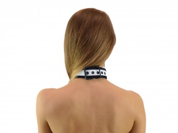 Deluxe Neopren Puppy Halsband weiß