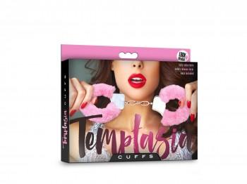 Temptasia Cuffs mit rosanem Plüschüberzug Handschellen