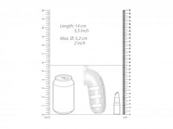 MANCAGE 12 Peniskäfig mit Analplug aus Kunststoff 14 cm trans