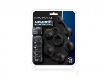 Performance Silicone Anal Beads Analkugeln schwarz 40 cm