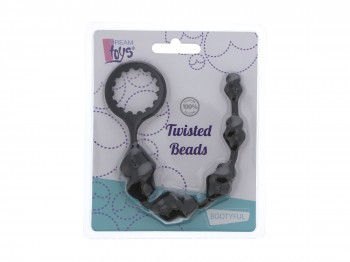 Dream Toys Twisted Beads gerippte Analkette 23 cm