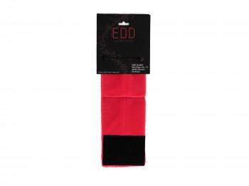 Samtweiche Klettverschluss-Handfesseln rot Gr.S