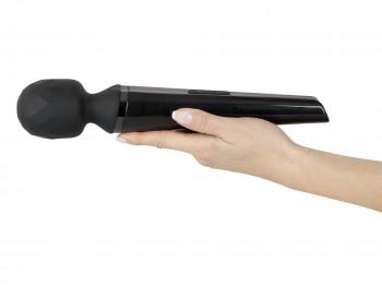 Massagestab mit beweglichem Massagekopf schwarz 31 cm