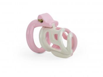 Soft Sissy Peniskäfig 4 Naturharz Cockringe rosa inkl. Burgwächter Lock