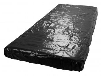 Fetisch Collection Lack-Spannbettlaken schwarz 160 x 200 cm