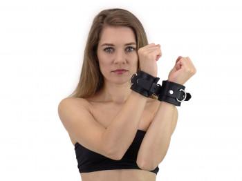 Heavy duty Silikon-Handfesseln schwarz