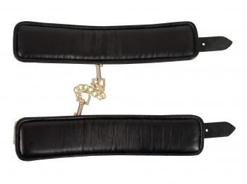 Zado Leder Handfesseln mit Gold-Details