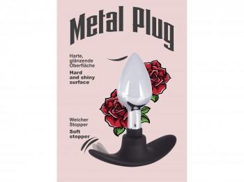Metall Plug mit Silikon Griff small 8 cm