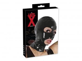 Latex-Kopfmaske schwarz