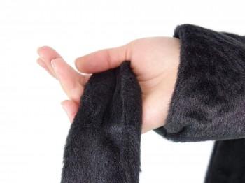 Premium Bondage-Schal schwarz - super flauschig