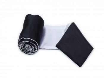 Premium Satin Bondage-Schal schwarz weiß