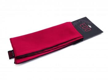 Premium Satin Bondage-Schal schwarz rot