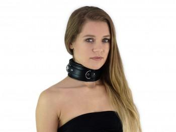 Bondage Halsband gepolstert schwarz