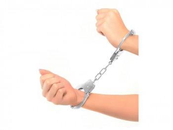 Handschellen mit Schlüssel und Sicherheitshebel