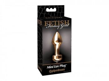 Mini Luv Plug konisch geformter Analplug Gold