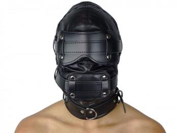 Isolationsmaske mit Dildoknebel Maske