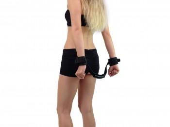 Control Cuffs - Bondage Neopren Handfesseln mit Griff