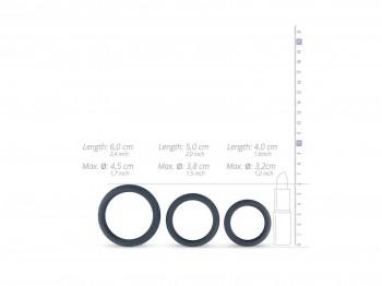 Boners Flat Rings - Silikon Cockring 3er Set