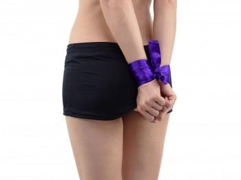 Premium Satin Bondage-Schal Violett